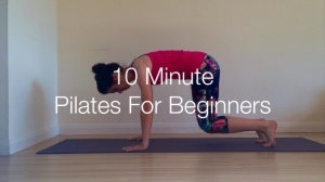 10 minute pilates for beginners cover photo