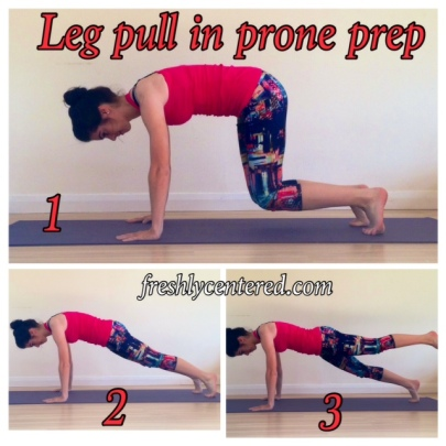 Leg pull in prone prep